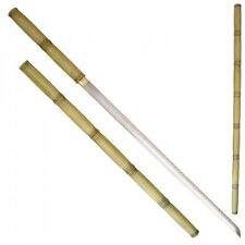 "Shirasaya Bamboo Look Sword Ninja Martial Arts 41"" Steel Samurai 27"" Blade QUALI"