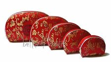 Asie : Ensemble 5 Pochette Gigogne Chinois Asiatique Fleur & Sceau ROUGE & Or