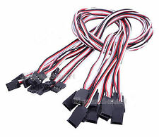 """10pcs 150mm 6"""" Servo Extension Lead Wire Cable Cord For Futaba JR - US"""