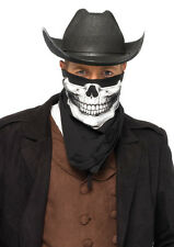 Leg Avenue Men's Skull Bandana Handkerchief Skeleton Face Mask Cowboy Scarf 1pk