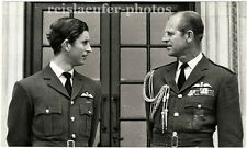 Prince Charles & Prince Philip, Father & Son, Original-Photo from 1971