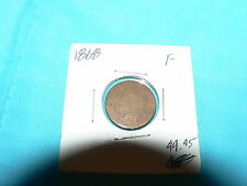1868 Indian Head Cent Copper Nickel Antique Vintage Coin XF+ Penny