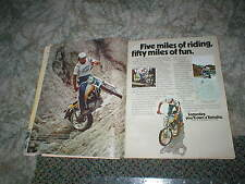 1974 YAMAHA TRIALS TY250  ORIGINAL  Cycle AD with  Mick Andrews 2pg
