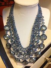 NWOT Stunning Blue Statement Necklace Anthropologie