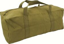 "HIGHLANDER HEAVY DUTY MILITARY TOOL BAG 18"" 45cm OLIVE GREEN OG ARMY KIT STYLE"