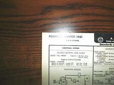 1961 Pontiac FOUR & EIGHT Series Tempest 4 & 8 Cylinder Models AEA Tune Up Chart