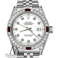 Women's Rolex 31mm Datejust White Color Dial with Ruby & Diamond Accent RT Watch