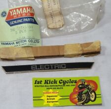 NOS YAMAHA SIDE COVER EMBLEM DECAL ELECTRIC XS650 XS 650 1970-75 341-21785-00