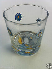 Handmade Hand Painted Ketto Design Blue & Yellow Flowers + Angel Princess Glass