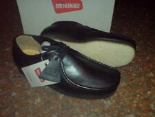 New Clarks Original  ** WALLABEES SHOE ** PREMIUM BLACK LEATHER ** UK 8.5