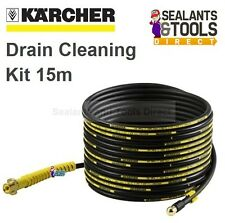 Karcher Drain Pipe Cleaning Pressure Washer Kit 15m Self Propelled Hose Cleaner