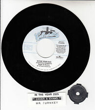 """ZAGER & EVANS In The Year 2525 7"""" 45 rpm record + juke box title strip NEW"""