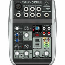 Behringer Q502USB 5-Input 2-Bus Mixer XENYX/EQ Mint Condition Without Power Cord