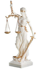 Themis Blind Greek Goddess of Justice Marble Statue Replica Reproduction