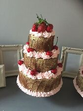 Fake 3 tier cherry cake