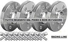 KIT 4 DISTANZIALI SP.16mm + 16 BULLONI PER FIAT GRANDE PUNTO ABARTH + ALL.MODEL.