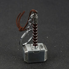 1pc Marvel Avengers Thor Thor's Hammer Metal Keyring Keychain Antique-Silver Hot