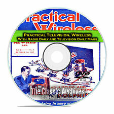 Practical Television, Practical Wireless, 458 Old Time Radio Magazines DVD E54