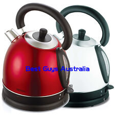 METALLIC RED 1.8L ELECTRIC KETTLE STAINLESS STEEL CORDLESS 12 MONTH WARRANTY
