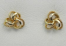 BJC® Beautiful 9ct Yellow Gold Knot Stud Earrings Brand New Gift Boxed 0.96g