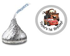 108 DISNEY PIXAR CARS HERSHEY KISS KISSES LABELS STICKERS BIRTHDAY PARTY FAVORS