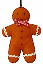 Felt Gingerbread Man Craft Kit - Make Your Own - Wool Felt Sew - Decoration Gift