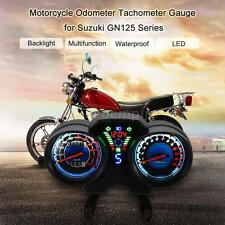 12V LED Digital Motorcycle Speedometer Tachometer Gauge For Suzuki GN125 P8D1