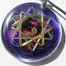 Crop Circle Double Hexagram Protector Metayantra Pranic Device, ORGONE