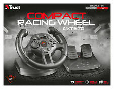 TRUST 21684 GXT 570 GM-3200 VIBRATION FEEDBACK SONY PS3 & PC RACING WHEEL PEDALS