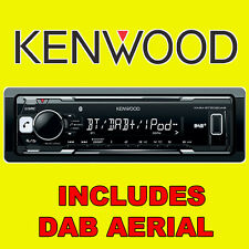 Kenwood Bluetooth Estéreo Radio Coche Receptor de medios digital DAB USB iPod iPhone