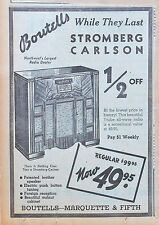 1940 newspaper ad for Stromberg Carlson Radios - 7 Tube all-wave radio console