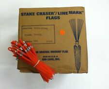 """Smi-Carr 6"""" Stake Chaser® Whiskers/Line Mark® Flags, Orange - 1000 Count"""