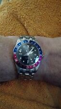 Tiger GMT Rolex homage 316L stainless steel sapphire crystal