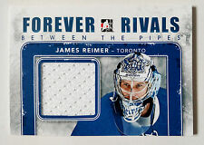 JAMES REIMER 2012-13 ITG Forever Rivals Game Used Jersey Blue Version