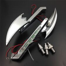 For Honda CBR929RR CHROME Motorcycle LED Turn signal Crooked Arrow mirrors
