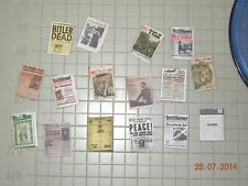 1/35 built ww2 German mewspapers & maps LOT