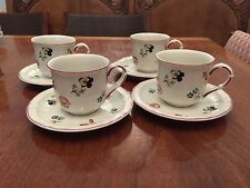 Villeroy & Boch  WAVE CAFFE EXPRESSO CUPS & PLATES Set Of 4 (8 pieces) MINT