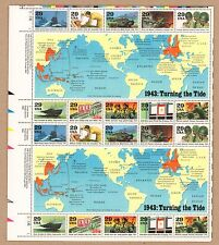 {BJ stamps}  2765.  1943 World War II Events.   29¢ MNH Sheet 20. Issued in 1993