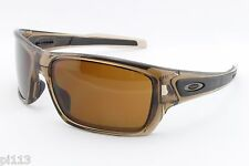 NEW Oakley Turbine 9263-02 Brown Smoke/Dark Bronze Sports Surfing Sunglasses