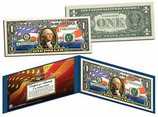 """United States of America Flag """"New Design"""" Legal Tender $1 Bill FULLY COLORIZED"""