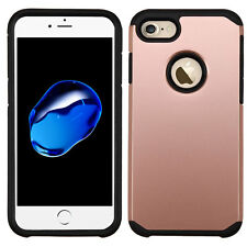 HYBRID TPU ROSE GOLD CASE IPHONE 7 -STRONGER THAN OTTERBOX COMMUTER- USA SELLER
