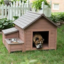 New Large & Medium Dog A-Frame Pet Puppy Outdoor Wood Kennel Shelter House!