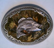 BELT BUCKLE - MOSSY OAK BREAKUP BASS MENS BELT BUCKLE BBMO-03 BRAND NEW