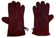Leather Dressing Gloves - Red, Small Sized