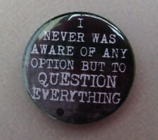 NOAM CHOMSKY QUESTION EVERYTHING 25MM Pin Button Badge INSPIRATIONAL Philosophy