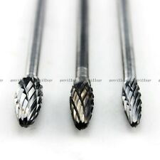 Tungsten Carbide Rotary Burr Drill Grinding 4mm/5mm/6mm Head Dia Torch-shaped