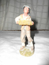 Very old composite, plastic villager figure man w/accordion Italy