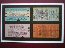 POSTCARD SPORTY RAILWAY TICKETS - BARBARIANS - HOTEL & GOLF -GATWICK RACECOURSE