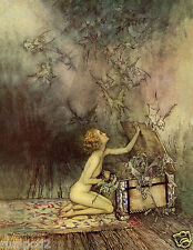 Pandora's Box Illustration/Poster/Arthur Rackham's /Fairies/Evil Spirits