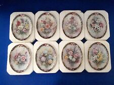 Lena Liu Floral Cameos Set of Plates 1 - 8 Bradford Exchange EUC - BOX/COA